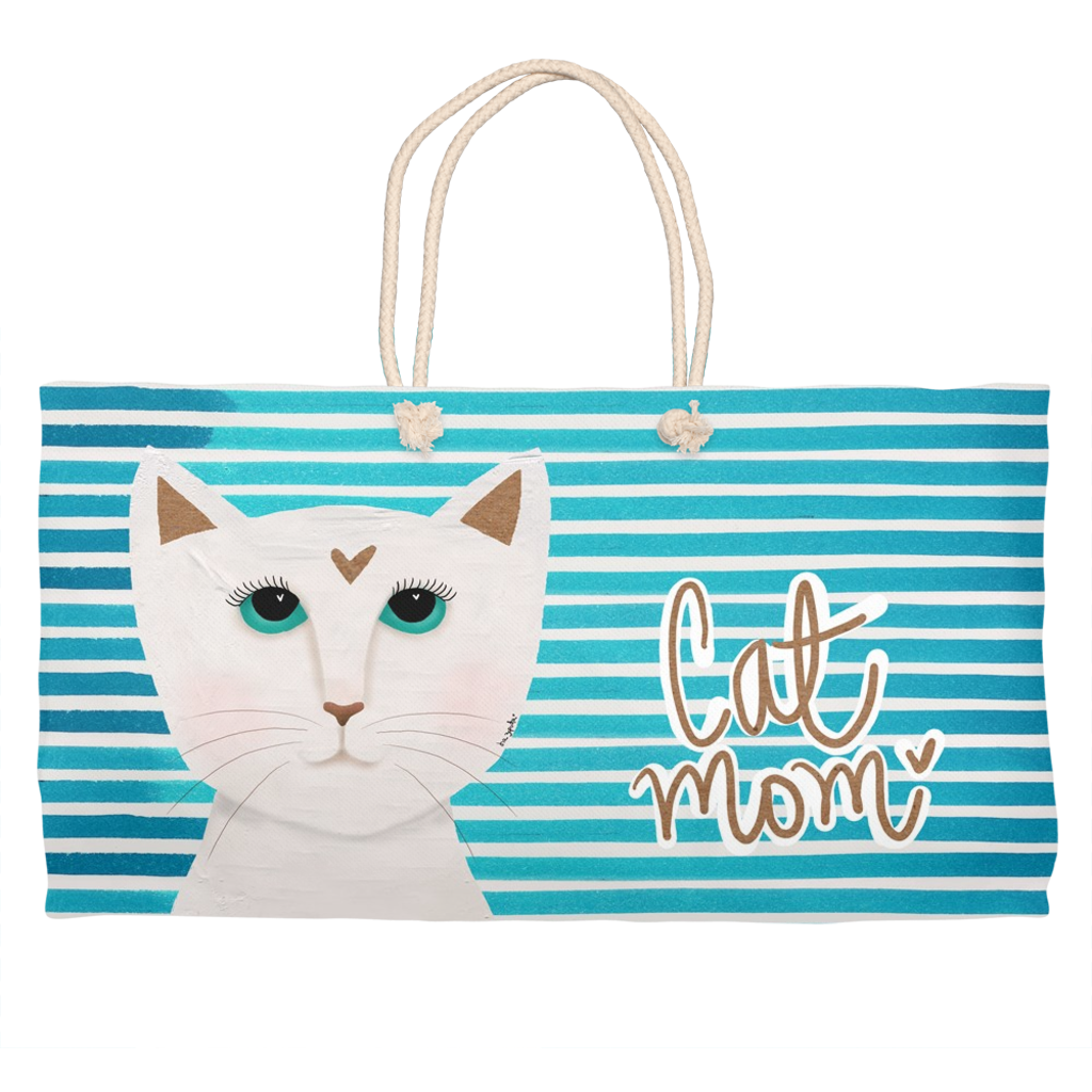 Cat Mom Weekender Totes