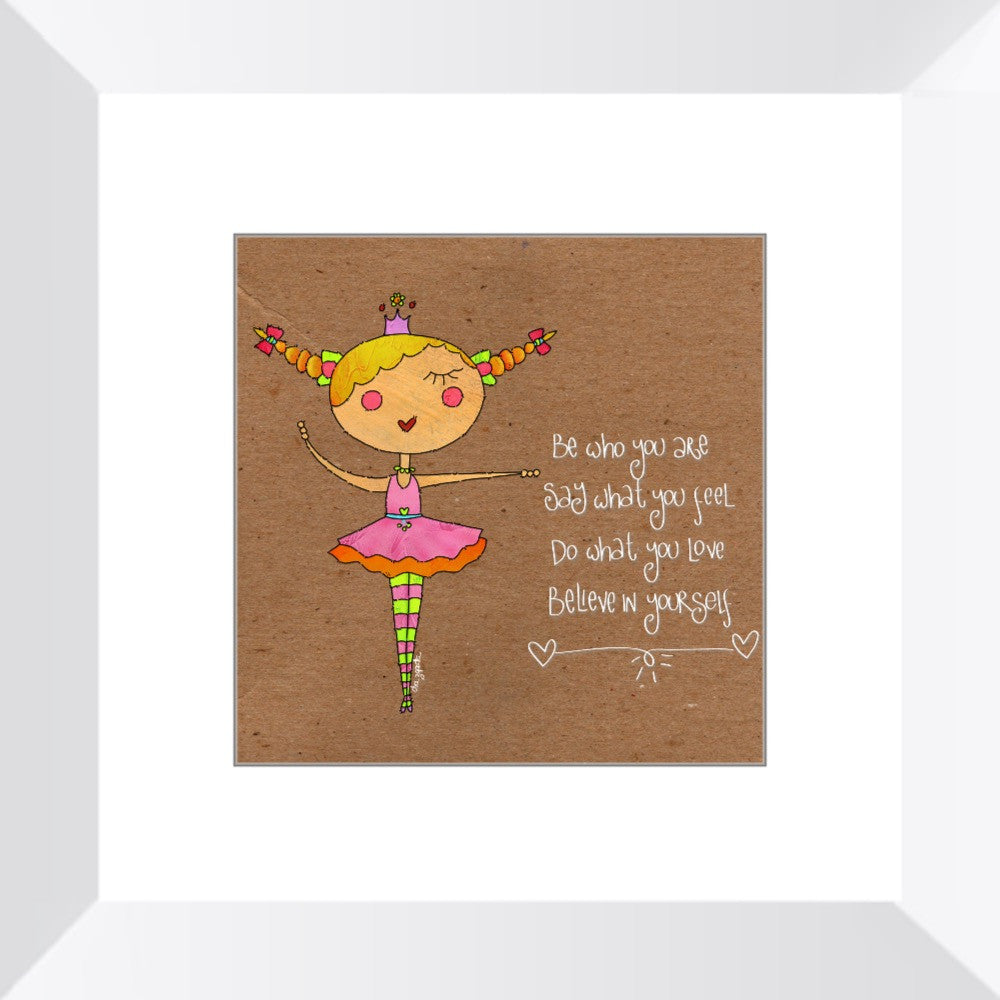 Princess Ballerina Framed Art Print