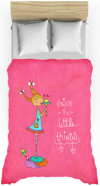 Enjoy the small things twin duvet cover
