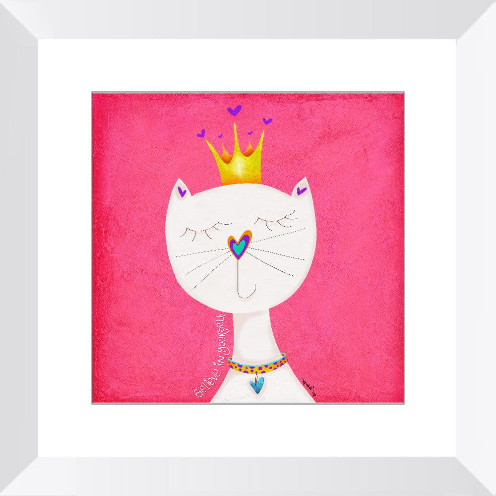 Queen Kitty Framed Art Print