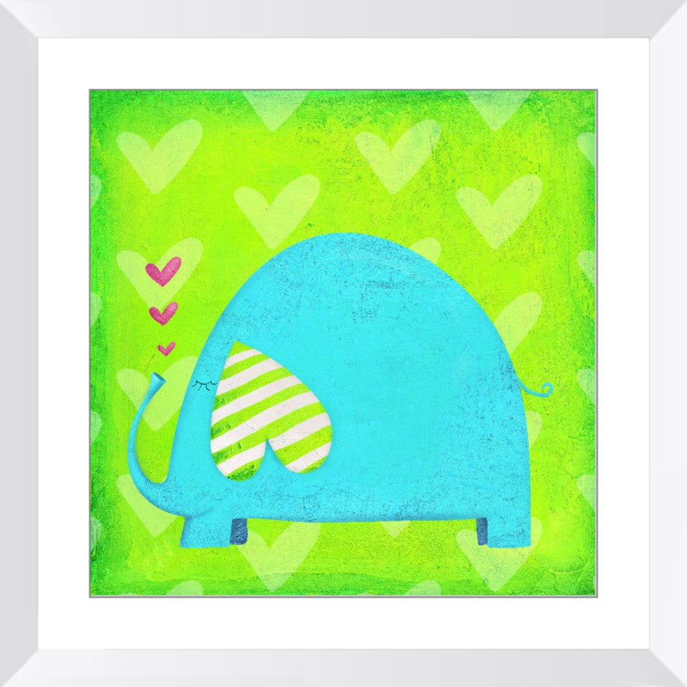Roland the Elephant Framed Print