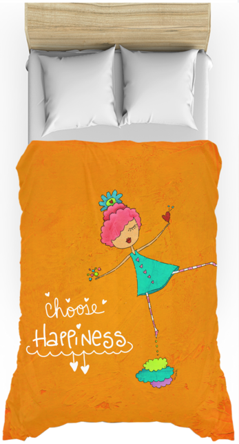 Choose Happiness Twin Duvet Cover