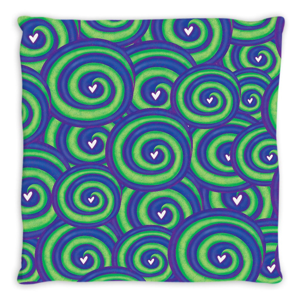 Spirals Of Love Double Sided Pillow