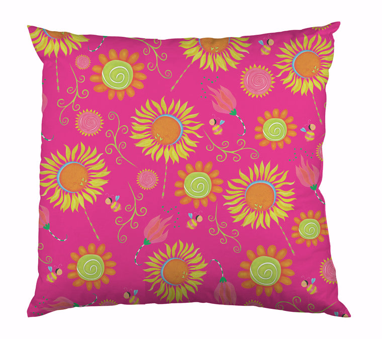 Bee Garden Outdoor Pillow