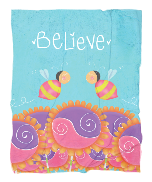 Believe fleece blanket