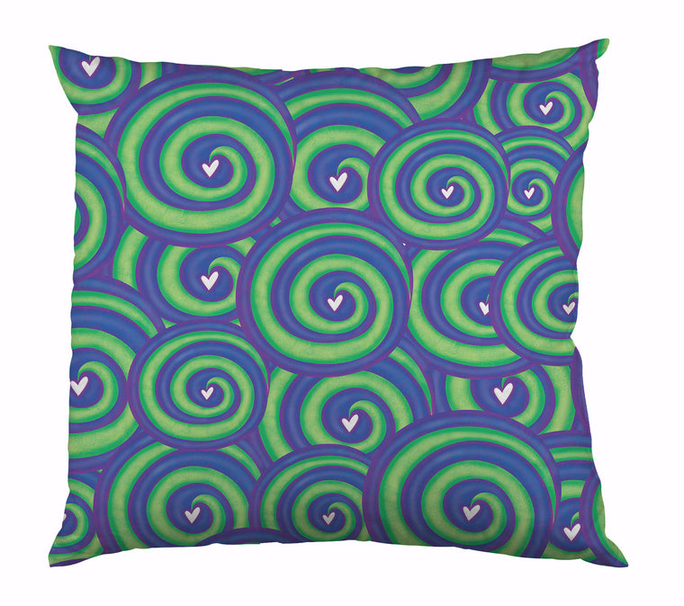 Spirals Of Love Outdoor Pillow