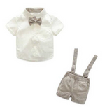 "Load image into Gallery viewer, ""HANDSOME GENTLEMAN"" 2-PIECE BABY BOY OUTFIT"