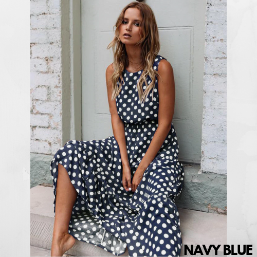 Dotted Long Flowing Summer Dress