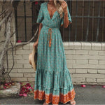 Load image into Gallery viewer, Summer Print Bohemian Dress