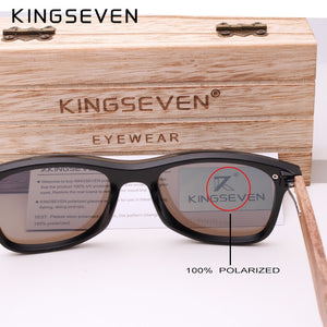 Polarized Walnut Wood Mirror Lens Sun Glasses