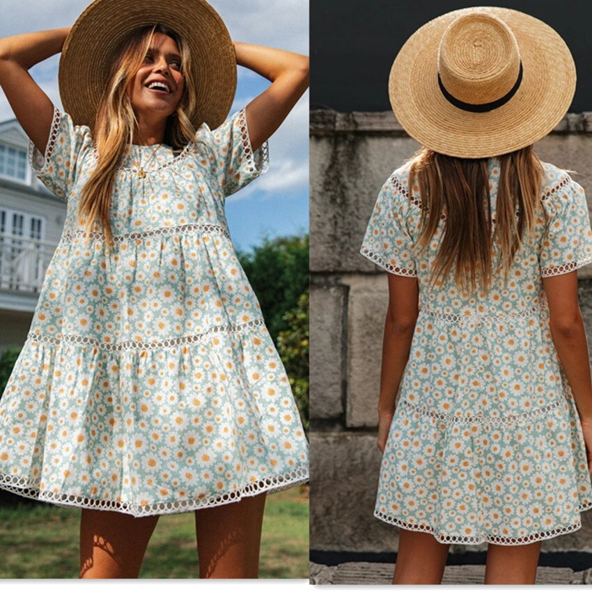 Casual Summer 2020 Floral Mini Dress.