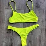 Load image into Gallery viewer, Two Piece Ribbed Neon Bikini.