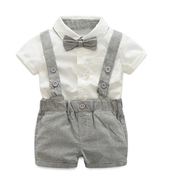 """HANDSOME GENTLEMAN"" 2-PIECE BABY BOY OUTFIT"