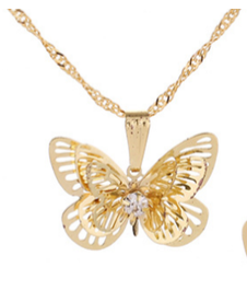 Butterfly Necklace Statement Pendants