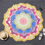 Load image into Gallery viewer, Lotus Printed Beach Towel