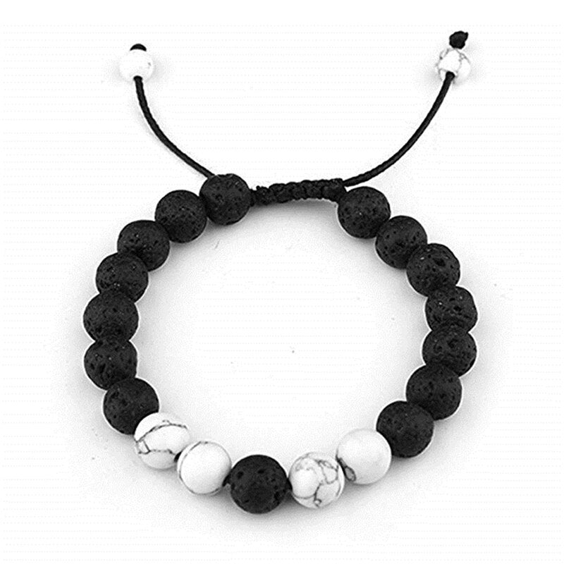 Lava Rock Stone Essential Oil Anxiety Diffuser Bracelet