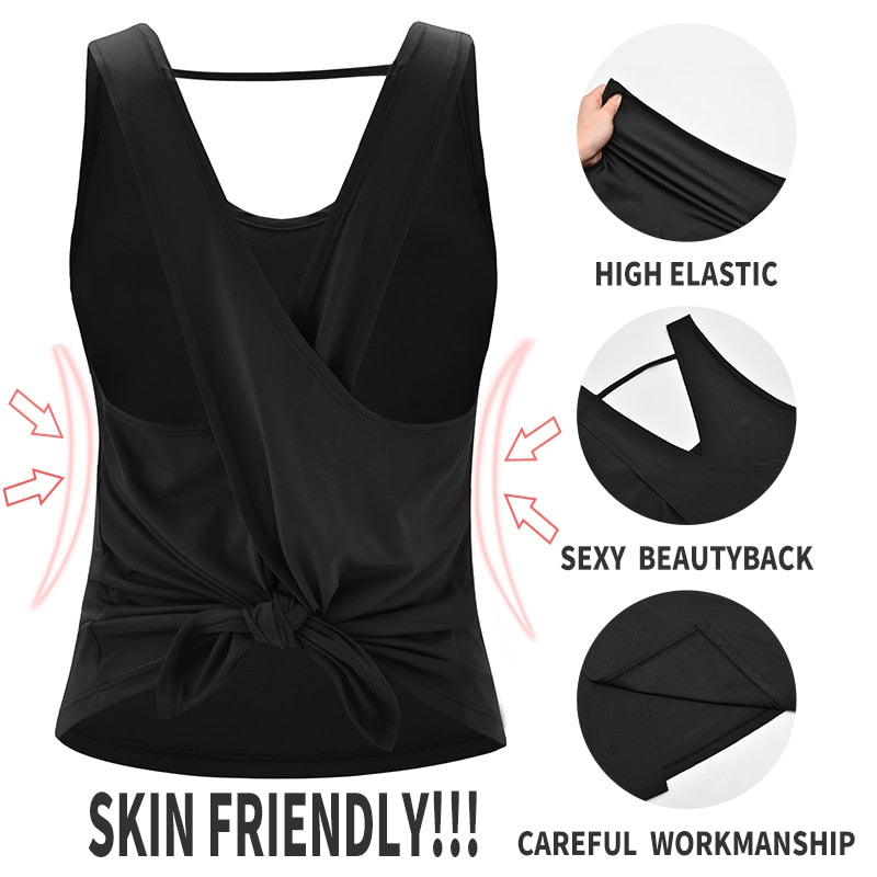 Backless Cross Gym Tops.