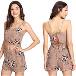 Load image into Gallery viewer, 2 Piece 50's inspired Floral Shorts Set.