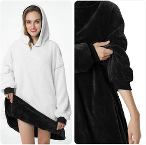 Large Hoodie Blanket With Sleeves