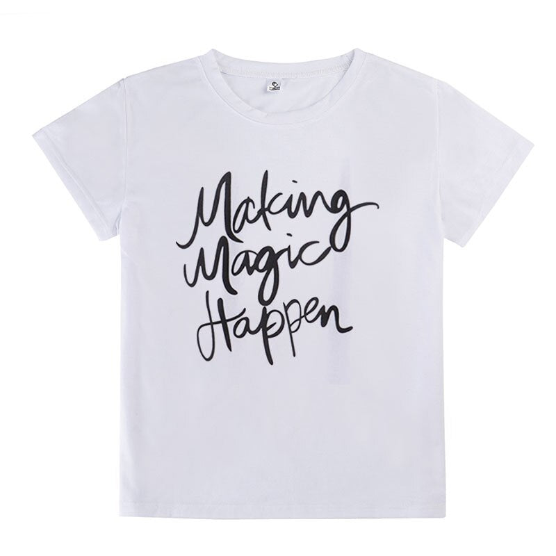Summer T-shirt Printed Magic Letters