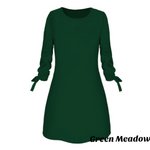Load image into Gallery viewer, Elegant Solid Color Dress