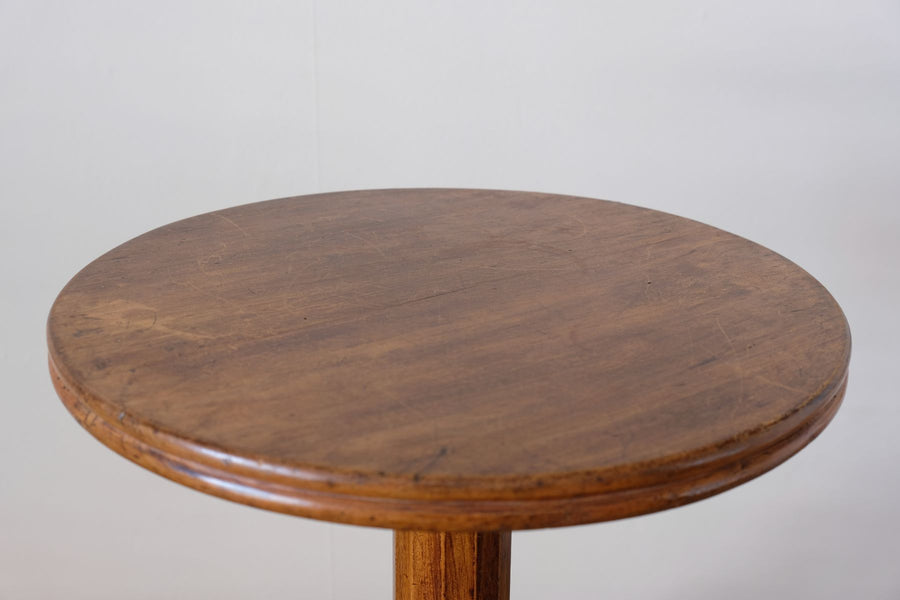 19th Century stained pine pedestal table with circular top