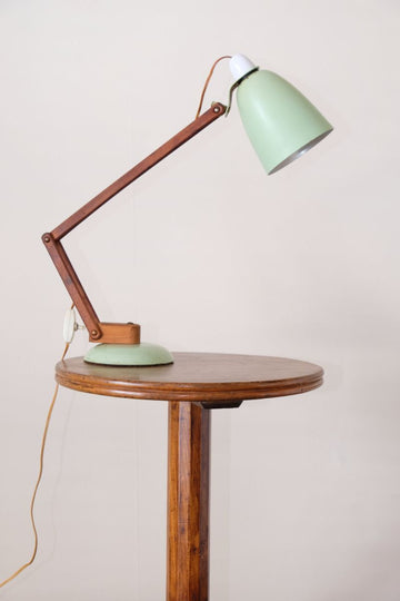 MacLamp designed by Terence Conran for Habitat 1960's anglepoise table lamp in pastel green