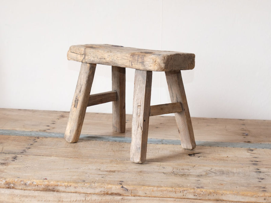 Early 1900's primitive elm milking stool 1001162