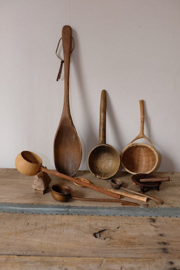 Collection of Antique Treen Kitchenalia
