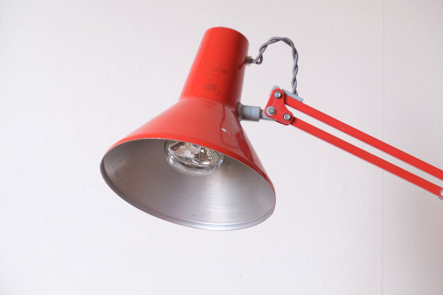 HCF Type 85 Danish Design Red Anglepoise Lamp