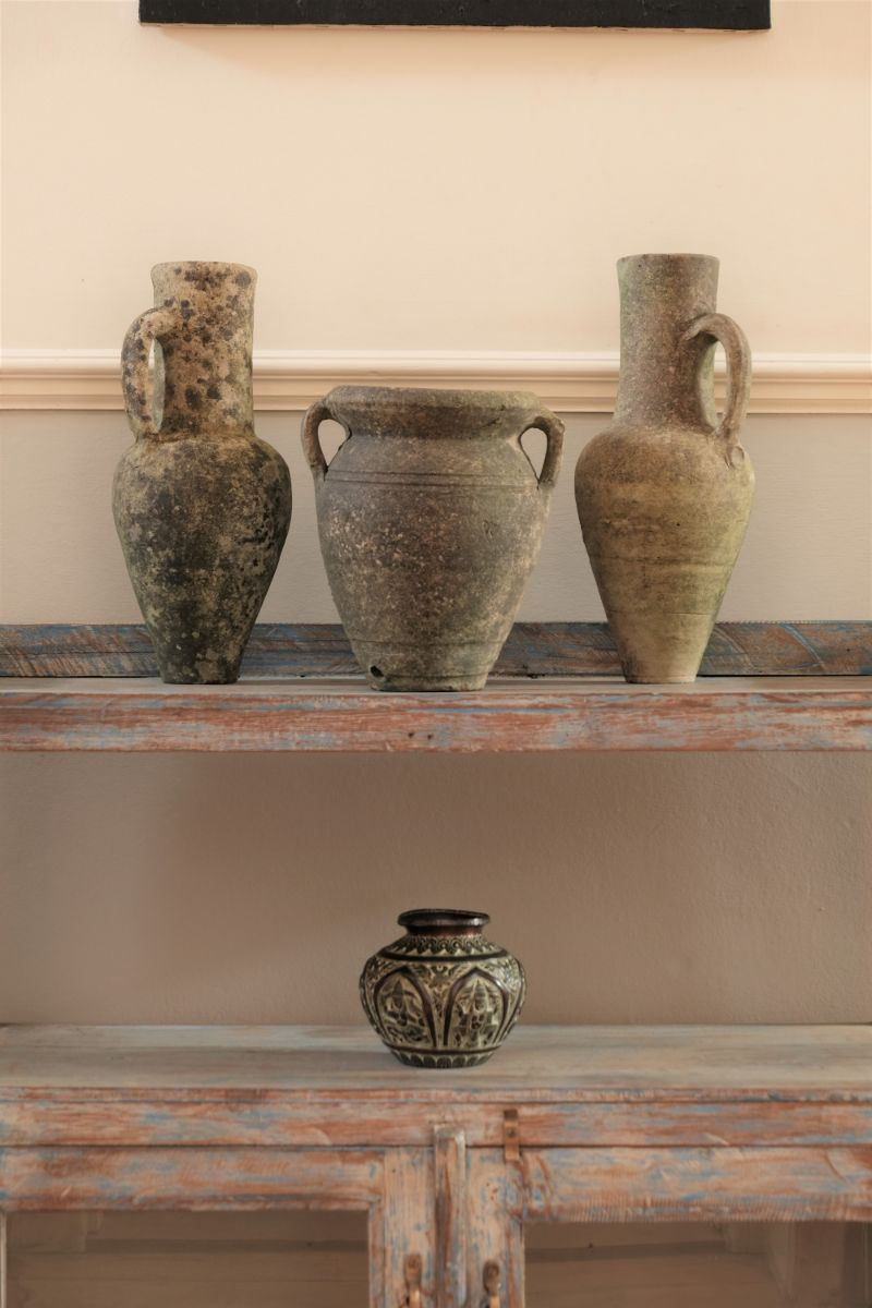 Pair Of Terracotta Grecian Style Jugs