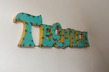 Tequila Time! Unique Vintage Handmade Tequila Sign