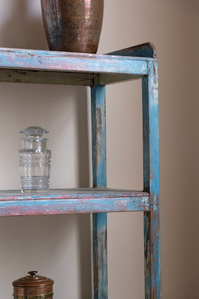 Open Shelf Display Cabinet With Four Shelves