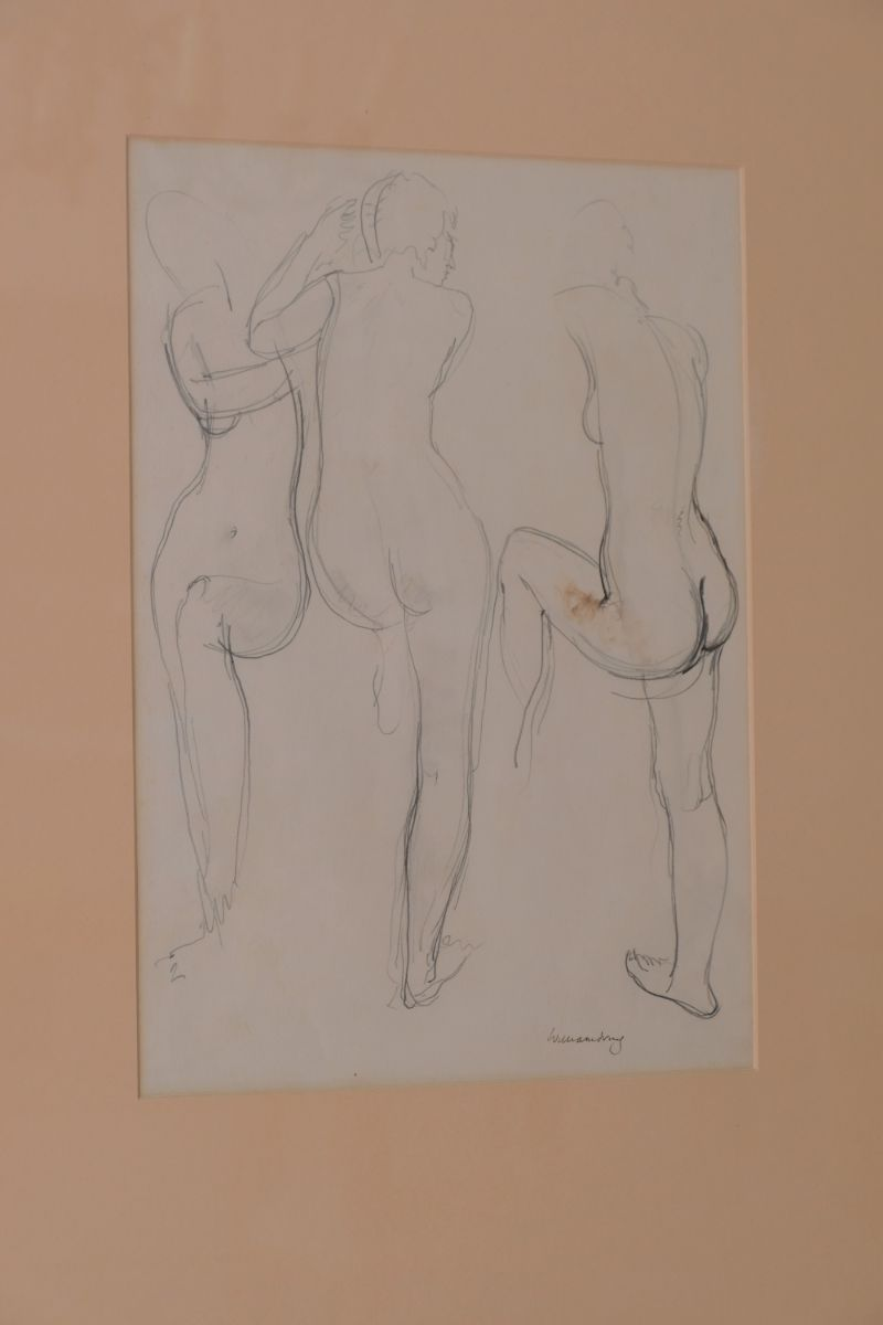 Nude Sketch Study Of A Lady By William Dring RA