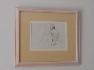 Nude Study Of A Lady Sitting By William Dring RA