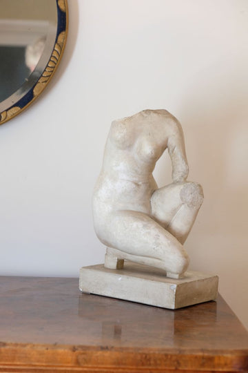 Classical Plaster cast figure of crouching Aphrodite