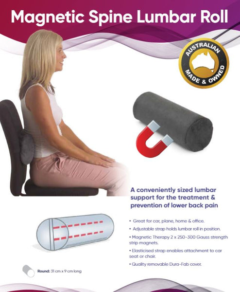 Ausnew Home Care Disability Services Magnetic Spine Saver Lumbar Roll - Magnotherapy Back Support | NDIS Approved, mount druitt, rooty hill, blacktown, penrith