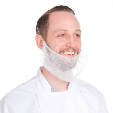 Safe-Sense™ | Disposable Beard Net | Latex Free & Fluid Resistant | Durable Quality