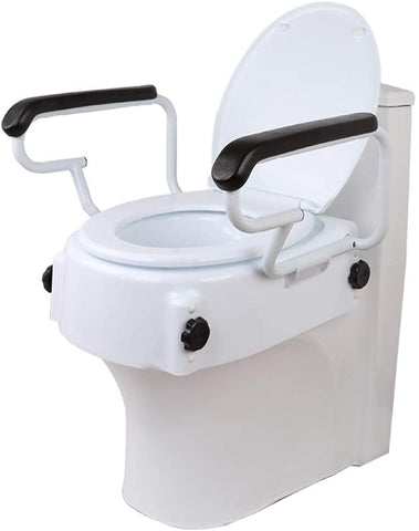 Ausnew Home Care Disability Services Raised Toilet Seat with Armrests | NDIS Approved, mount druitt, rooty hill, blacktown, penrith