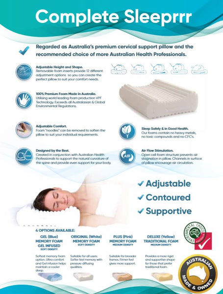 Ausnew Home Care Disability Services Complete Sleeprrr Plus - Adjustable Memory Foam Pillow - Medium Version | NDIS Approved, mount druitt, rooty hill, blacktown, penrith