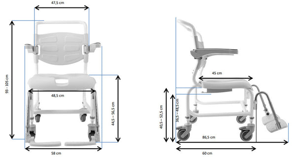 Ausnew Home Care Disability Services Denmark Shower Commode Chair | NDIS Approved, mount druitt, rooty hill, blacktown, penrith