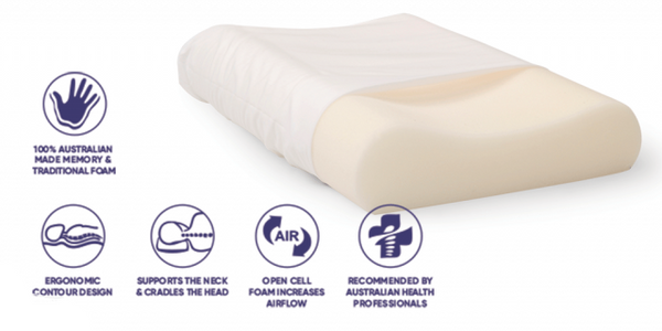 Ausnew Home Care Disability Services Tranquillow Contoured Pillow - 9 Options Available  | NDIS Approved, mount druitt, rooty hill, blacktown, penrith