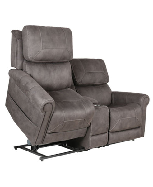Twin Seat Dual Motor Lift Chair With Headrest and Lumbar – Home Theater Recliners
