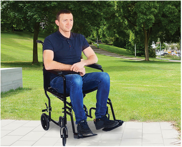 Ausnew Home Care Disability Services Aidapt Aluminium Compact Transit Chair | NDIS Approved, mount druitt, rooty hill, blacktown, penrith