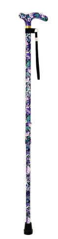 Ausnew Home Care Disability Services Deluxe Patterned Violet Walking Cane | NDIS Approved, mount druitt, rooty hill, blacktown, penrith