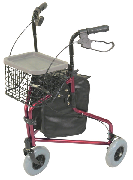 Ausnew Home Care Disability Services Lightweight Tri Walker with Bag and Basket | NDIS Approved, mount druitt, rooty hill, blacktown, penrith