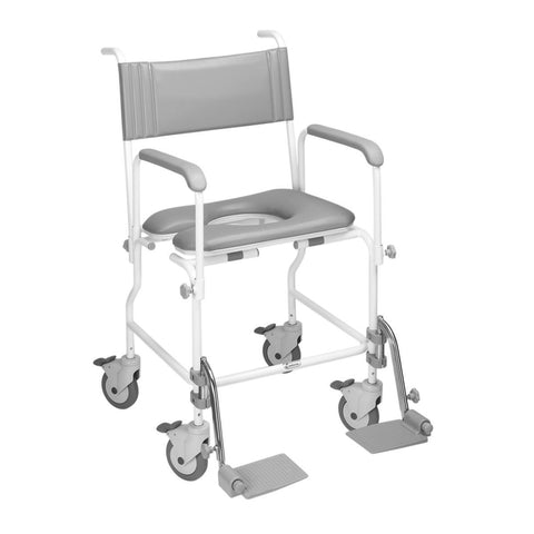 Ausnew Home Care Disability Services Premium AquaMaster Attendant Propel Commode | NDIS Approved