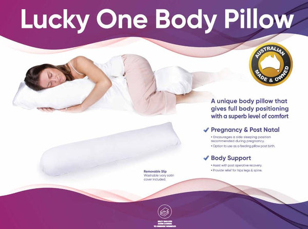 Ausnew Home Care Disability Services Lucky One Body Pillow - Best 'Straight' Positioning Pillow  | NDIS Approved, mount druitt, rooty hill, blacktown, penrith