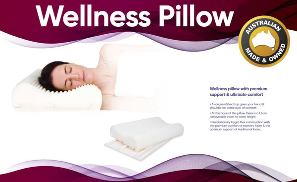 Ausnew Home Care Disability Services Wellness Pillow - Comfort of Memory Foam, Support of Traditional Foam | NDIS Approved, mount druitt, rooty hill, blacktown, penrith