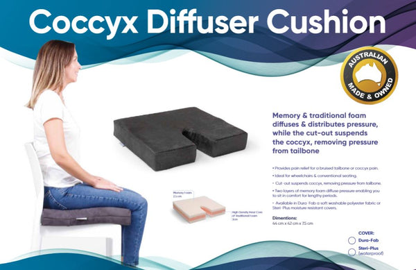 Ausnew Home Care Disability ServicesCoccyx Diffuser Chair Cushion - Memory Foam Coccyx Support | NDIS Approved, mount druitt, rooty hill, blacktown, penrith